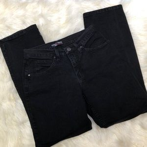 Riders by Lee Black Straight Leg Classic Fit 8M